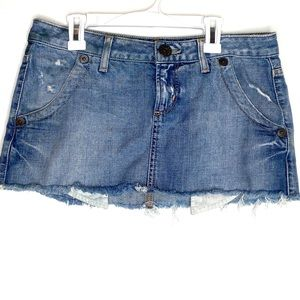 Guess jeans ultra mini jean skirt